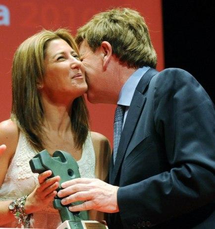 Sara Baras y Víctor Pascual Artacho, presidente del CRDO Rioja