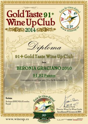 BERONIA GB 182.gold.taste.wine.up.club