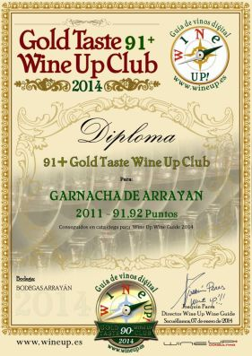 BODEGAS ARRAYAN 185.gold.taste.wine.up.club
