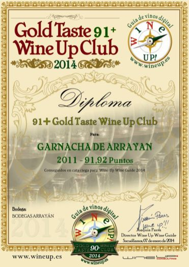 BODEGAS ARRAYAN 185.gold.taste.wine.up.club