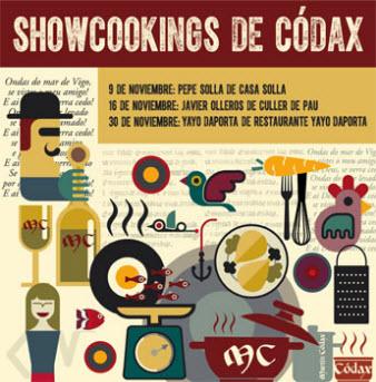 Os Showcookings de Códax