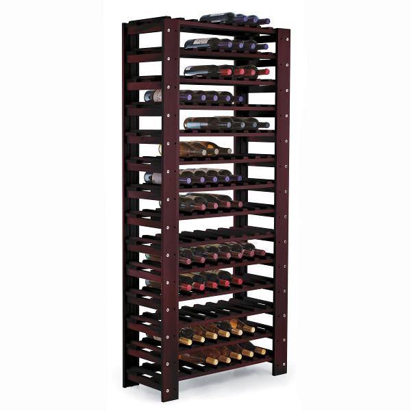 swedish pine 126 bottle wine rack mahogany