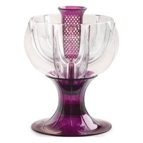 crystalline purple wine aerator