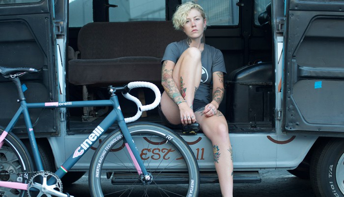 Kelli Samuelson and TRACKO for the NEW Cinelli Winged Store