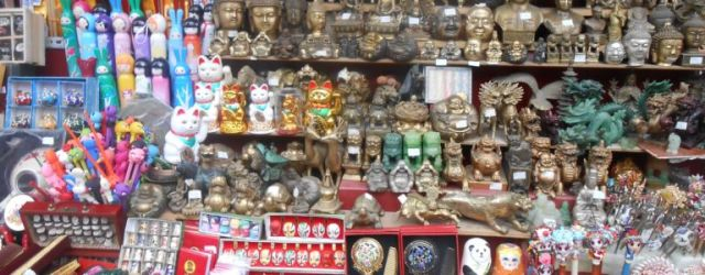 A traditional Chinese market stall. These are great places to haggle!