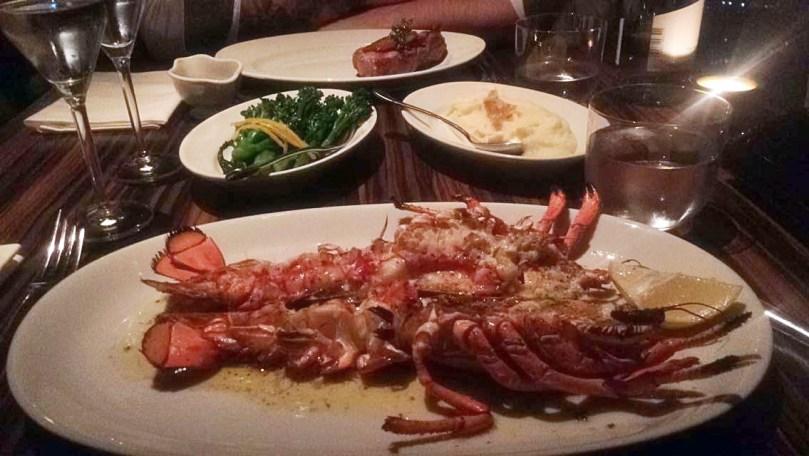 birthday trip to london Oblix The Shard Lobster