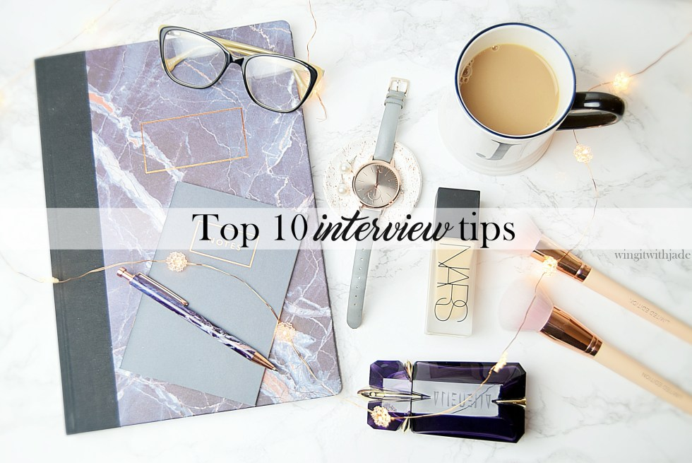 Interview Tips - Round-Up Post - www.wingitwithjade.com