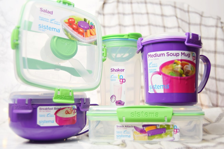 Meal Prep with Sistema To Go Containers - www.wingitwithjade