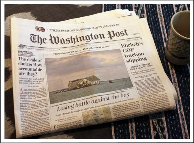 sinking island newspaper website