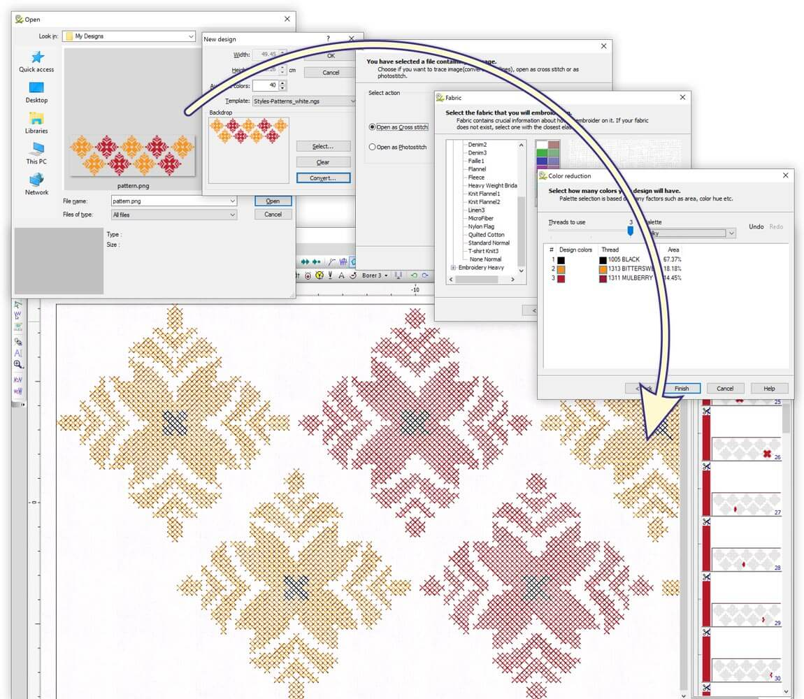 WINGS eXPerience Embroidery Software - Operator Level