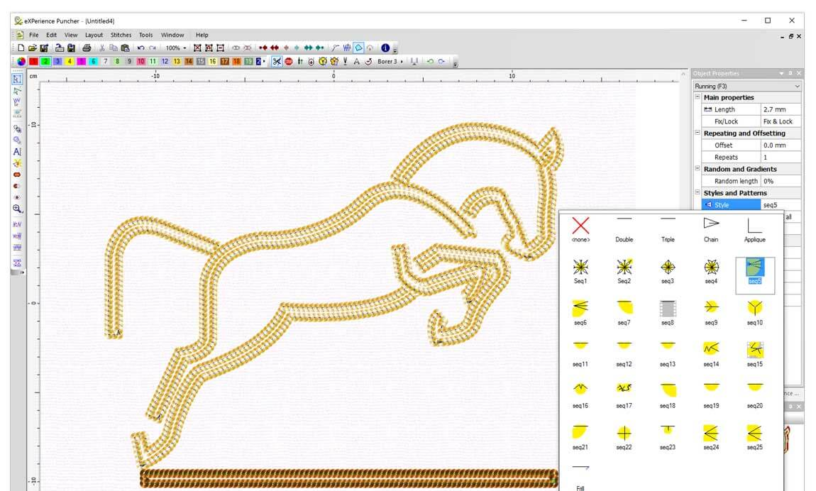 WINGS eXPerience Embroidery Software - Puncher Level