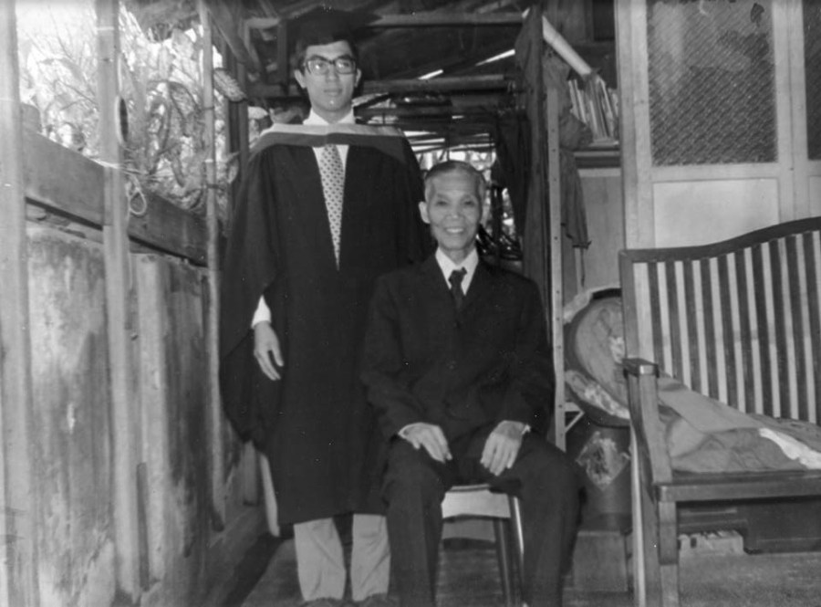 GGM Tang Yik con il suo pronipote GM Michael Tang