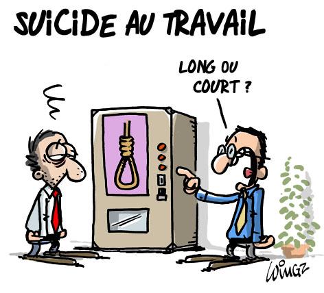 Suicide Au Travail WINGZ Dessinateur De Presse