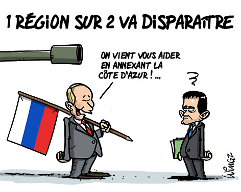 reforme territoriale suppression régions département poutine crimée humour dessin