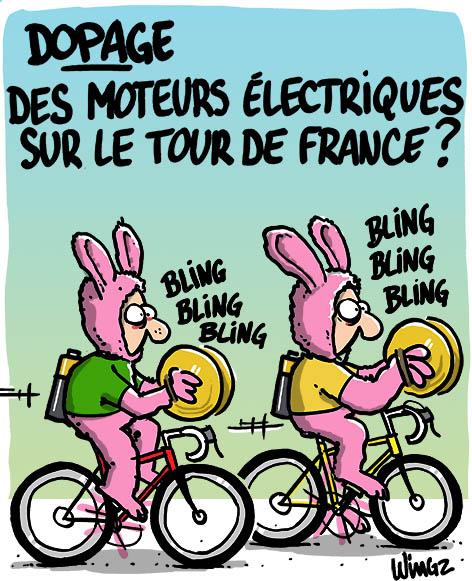 dopage mécanique vélo électrique