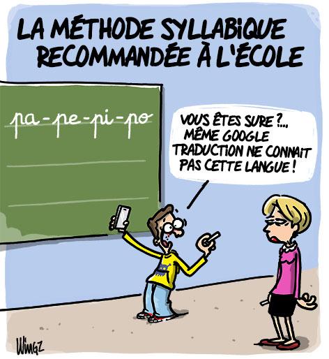 dessin humour école méthode syllabique