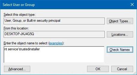 take ownership of a file