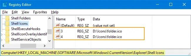 change folder icon in Windows