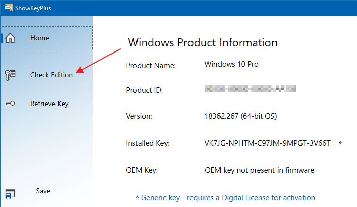 showkeyplus product key offline