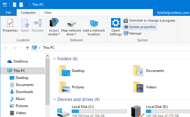 Remove Quick access and User Folders from File Explorer in