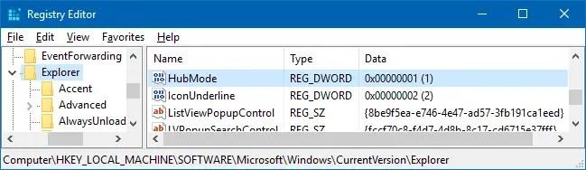 remove quick access in windows 10 v1607