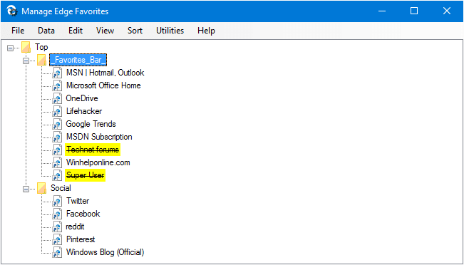 How to Delete All Your Microsoft Edge Favorites? » Winhelponline