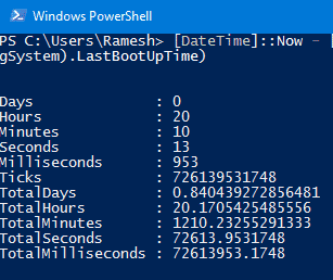 Incorrect Uptime Reported by Task Manager and WMI  Refresh