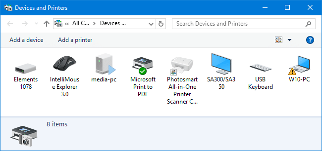 devices in windows