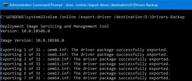 drivers backup restore in windows 10