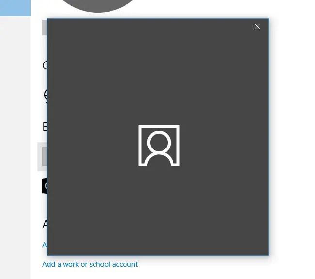 user account settings closes windows 10