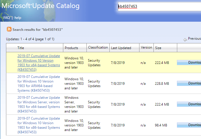 Download Windows Updates ( msu) from Catalog Using PowerShell or
