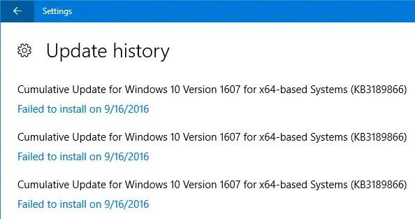 KB3194496 failed to install