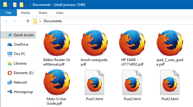 change firefox pdf file icon