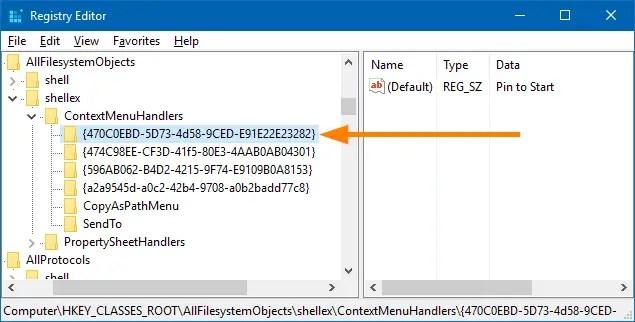 pin any file to start