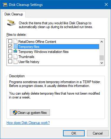 clear temp files at login