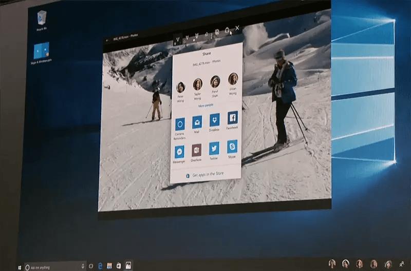 windows 10 new share ui