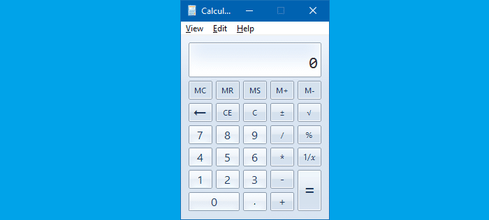 Get Old Classic Calculator in Windows 10
