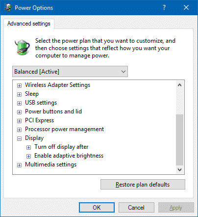 lock screen display off setting