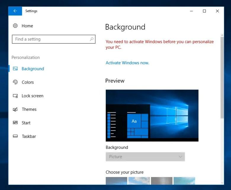 Set Desktop Background Wallpaper Without Activation