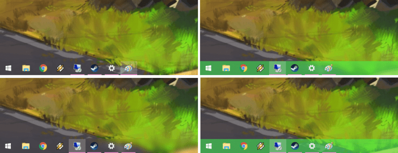 make taskbar fully transparent or translucent