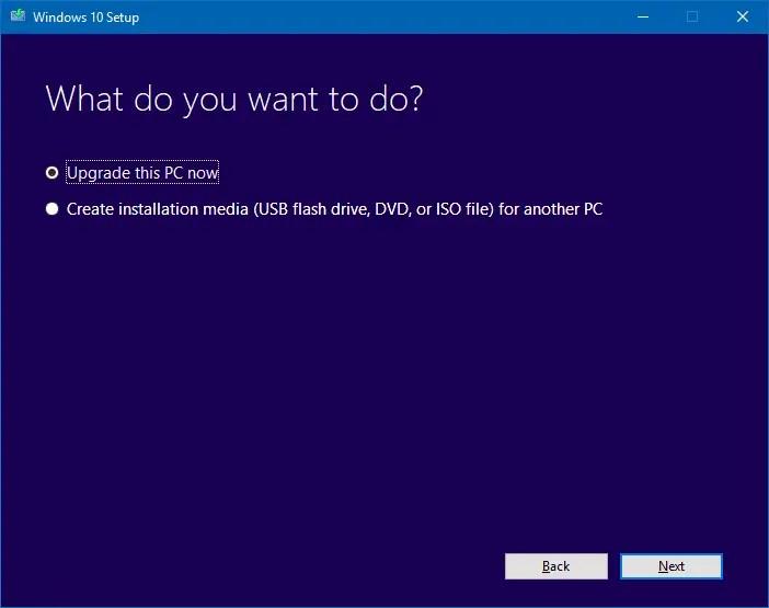 windows 10 Fall Creators Update media creation tool