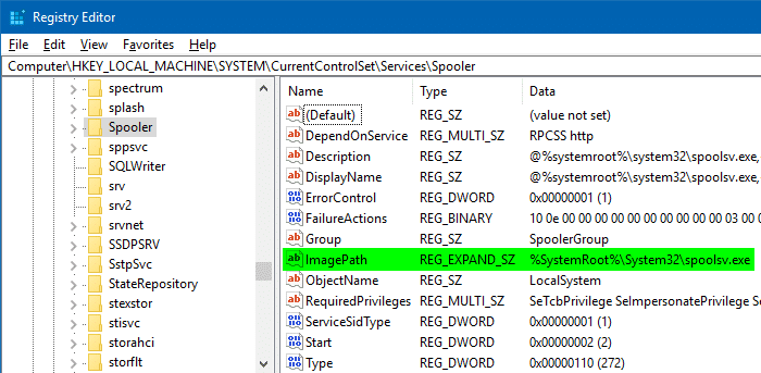 registrychangesview expandable string value