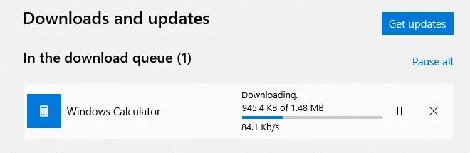 windows store slow download speed