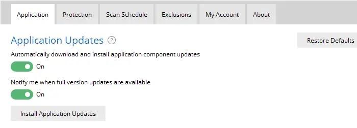 malwarebytes update or upgrade manually