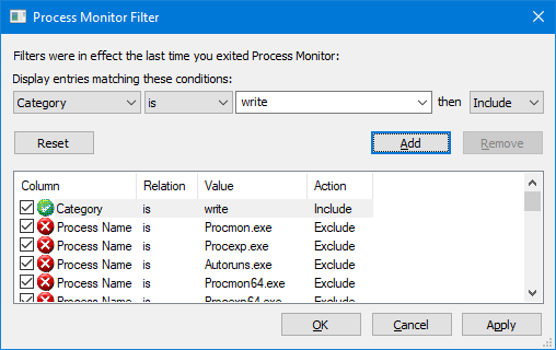 track disk io usage - process explorer