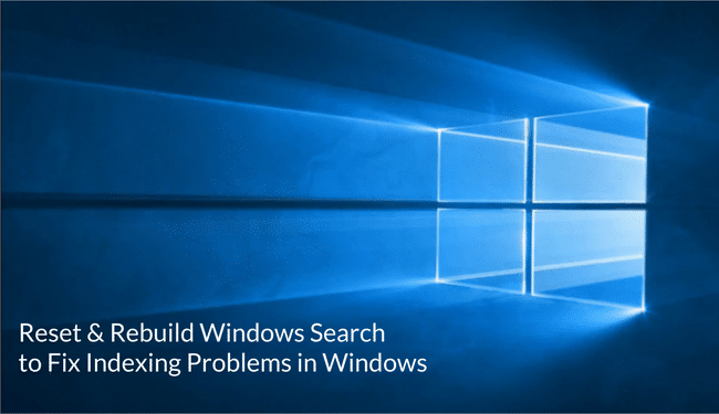 windows search reset and rebuild featured image
