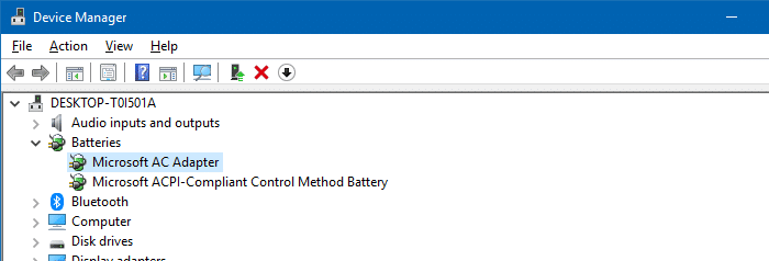 device manager battery control adapter acpi