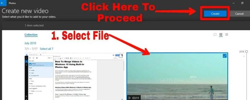 merge or combine videos using windows 10 photos app