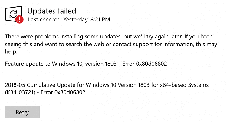 windows update error 0x80d06802 solution