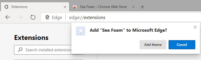 Install Chrome Themes & Extensions on Edge Chromium
